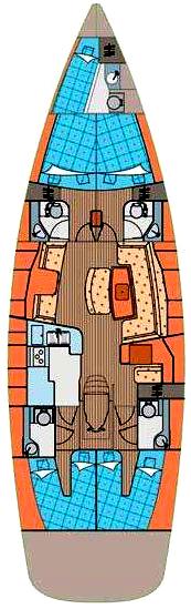 Kabinos hajóbelső